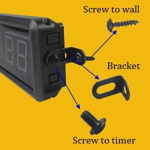 bracket mount wall timer