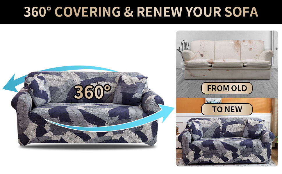 printed couch cover