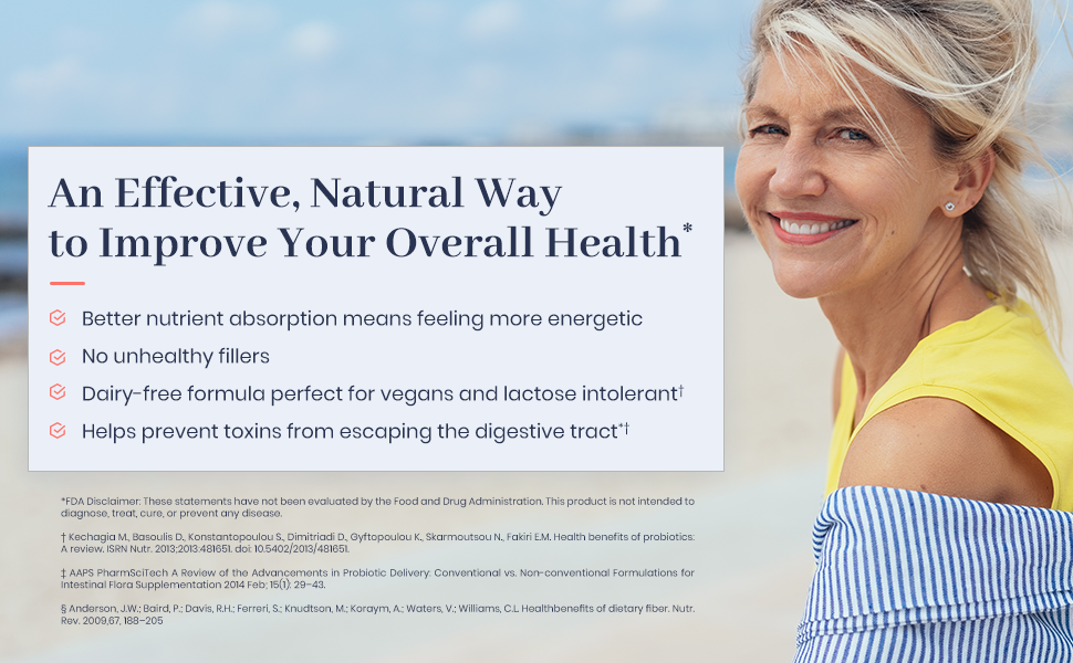 1MD Complete Probiotics - Woman enjoying beach
