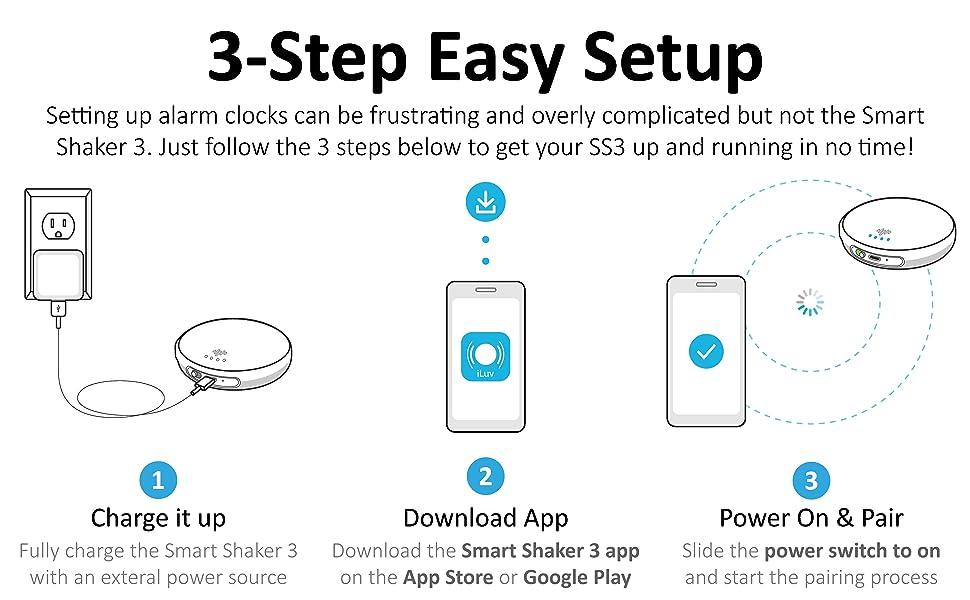 Vibration Bed Shaker Alarm Clock