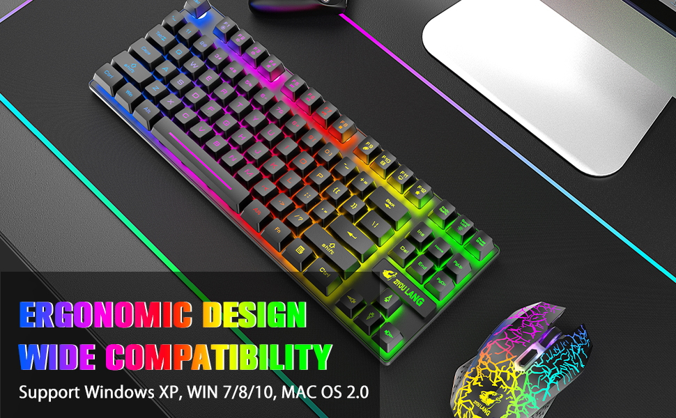 ergonomic gaming keyboard and mouse