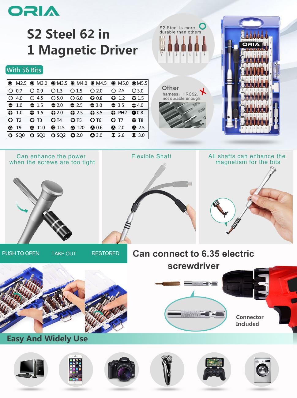 62 in 1 screwdriver kit