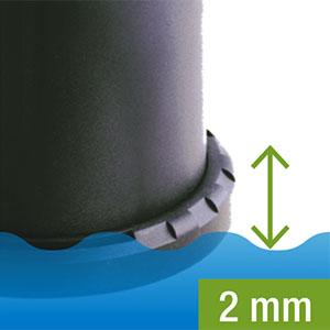 Minimum Depth of 2mm