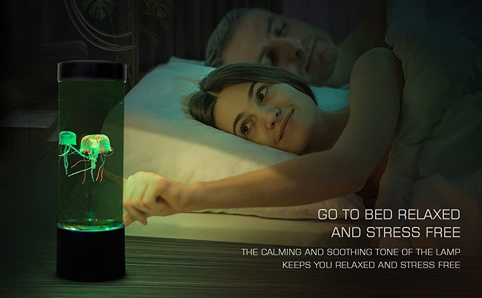 Jellyfish glow night lamp night table bedroom decor night light soothing and calming