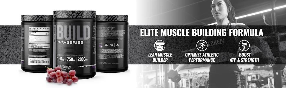 Pro-Series Build Grape - Elite Muscle Building Formula - Lean Muscle Builder, Boost ATP & Strength