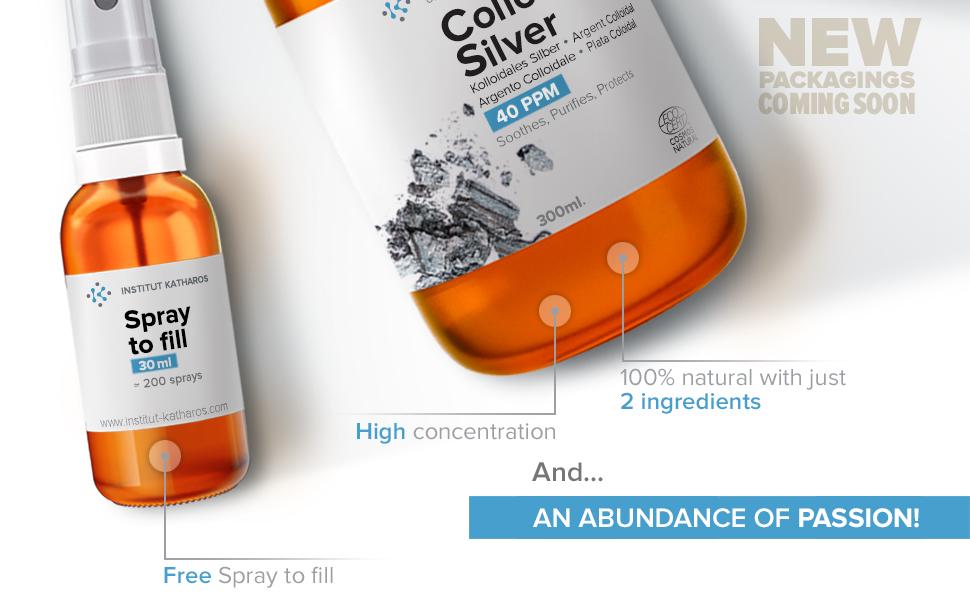 Colloidal silver liquids 40 PPM 2