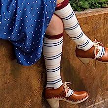 vimamp;vigr nylon mens compression socks stripes navy blue