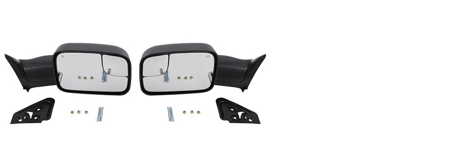 2 x (Left amp; Right) Towing Mirrors with Support Bracket