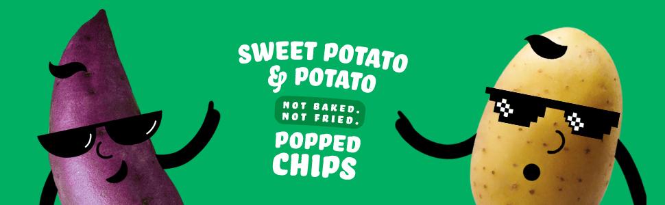 Sweet Potato Potato Popped Chips Not Baked Not Fried