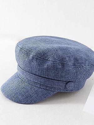 Women Fall Winter Hat Cap Packable Newsboy Navy Hat Cap Classic Cabbie Beret Gatsby Yacht Captain Sailor Fishermens Hat Cap