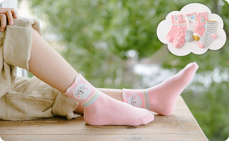 La imagen muestra calcetines con materiales de gran calidad y cómoda.