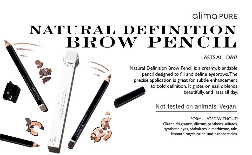 natural makeup, mineral makeup, eye makeup, brow makeup, brow liner, brow pencil, eyebrow pencil