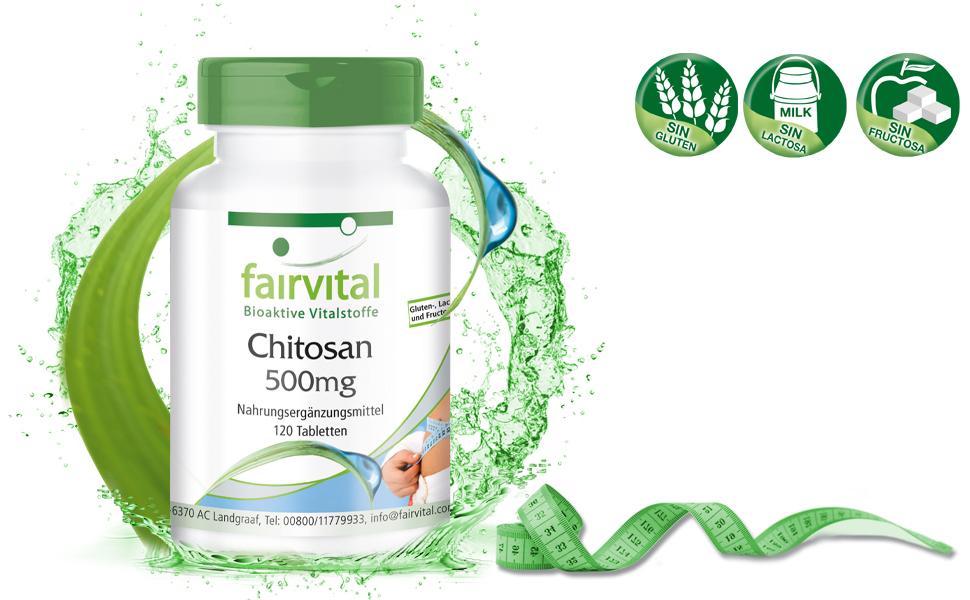 Chitosan extraforte 500mg - Altamente dosificado - 120 comprimidos - fibra natural - extraforte - ¡Calidad Alemana garantizada!