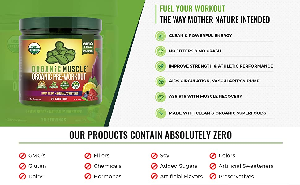 Organic Pre-Workout Product Highlights