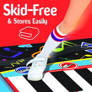 Little performer piano playmat skid free and stores easily musical toys for kids and toddlers
