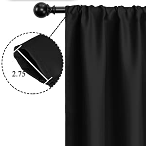 rod pocket blackout curtains