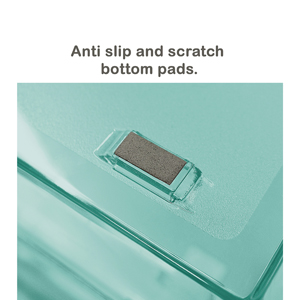 acrimet facility letter tray 2 tier front load clear green color