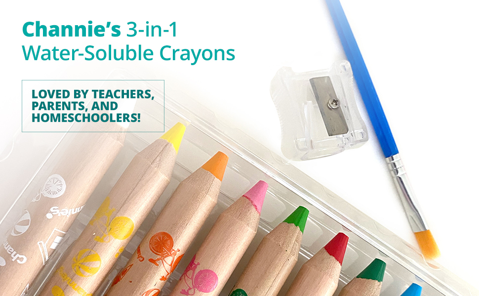 3-in-1 Water-Soluble Crayons Loved by teachers, parents, and homeschoolers!