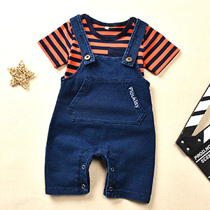 FCQNY New Born Toddlers Short Sleeve Summer Jumpsuit Kids Casual Playwear with Adoarable Cartoon Cars Printing Organic Cotton One-Piece Bodysuit Color : Apricot, Size : 90cm
