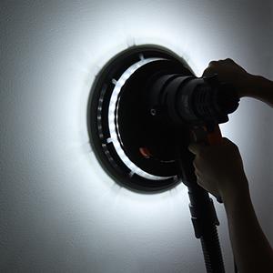 4.5m Netzkabel Gangschaltung der 6 G/änge PDS03B LED-Licht 12 St/ücke Schleifscheiben TACKLIFE Trockenbauschleifer Staubsammelbeutel 800W Wandschleifer mit Selbstreinigungsfunktion