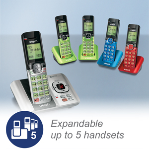 expandable with color options for accessory handsets
