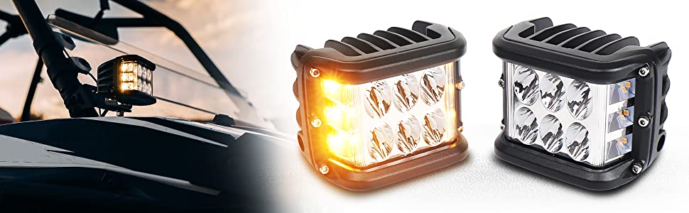 Off-road driving light pods