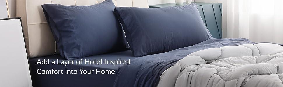 Bedsure Washed Bed Sheet Sets