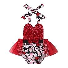 valentine day baby dress romper