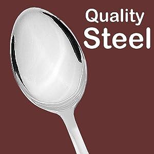 Sumeet Stainless Steel Premium Quality Dessert/Table Spoon