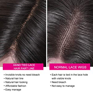 UNice Straight Silk Base Fake Scalp Human Hair Closure Wigs for Black Women