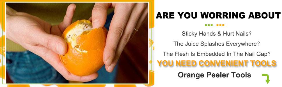 Orange Peeler Tools Citrus Peel Cutter Plastic Fruit Vegetable Slicer Cutter Lemon Peeler Opener
