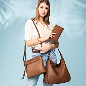 leather purses and handbags