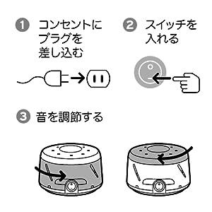 ホワイトノイズ 操作方法 操作 音量