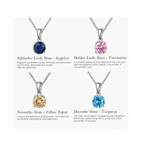 September, October, November and December Necklace