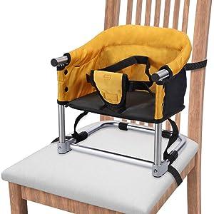 Bebe Voyage Bagage de Rehausseur Siege Pliant Chaise Haute Portable Harnais SC