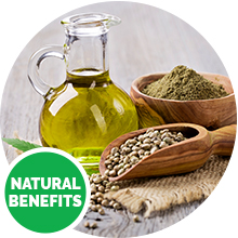 reduces pain hemp oil seeds natural benefits dog treats chews wildpaw senior improve mobility