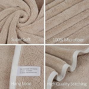 Fitness 2Pack Gris Gym KinHwa Serviette de Bain Absorbantes Draps de Bain Doux Serviette Microfibre pour la Piscine Yoga Camping Voyage
