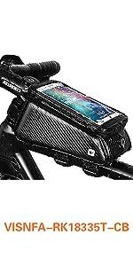 visnfa Bike Phone Mount Bag Bicycle  Front Frame Top Tube Handlebar Bag