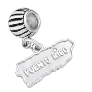 puerto rico sterling silver charm