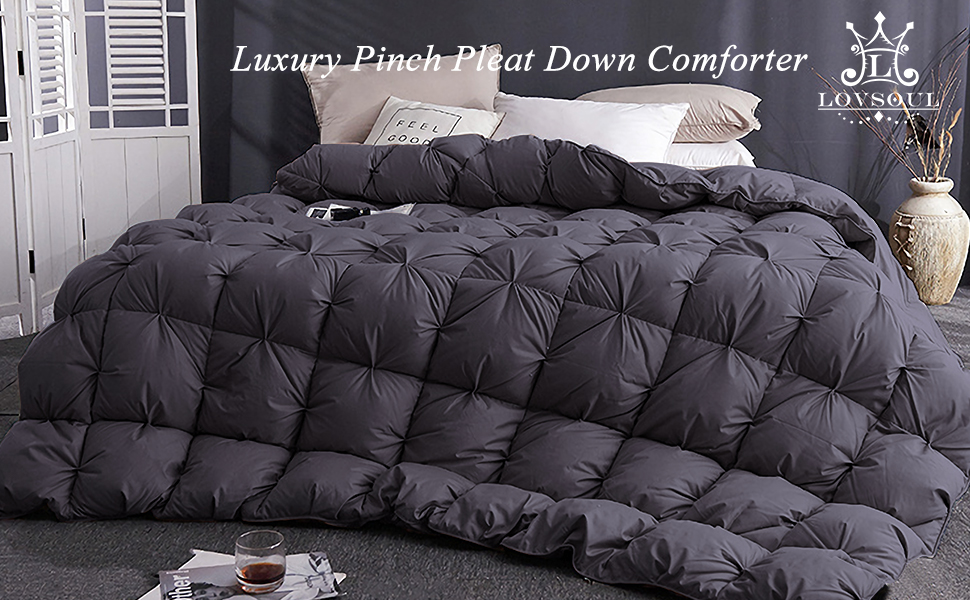 pinch pleat down comforter