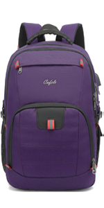 17.3 inch large laptop backpack for school travel business work Purple
