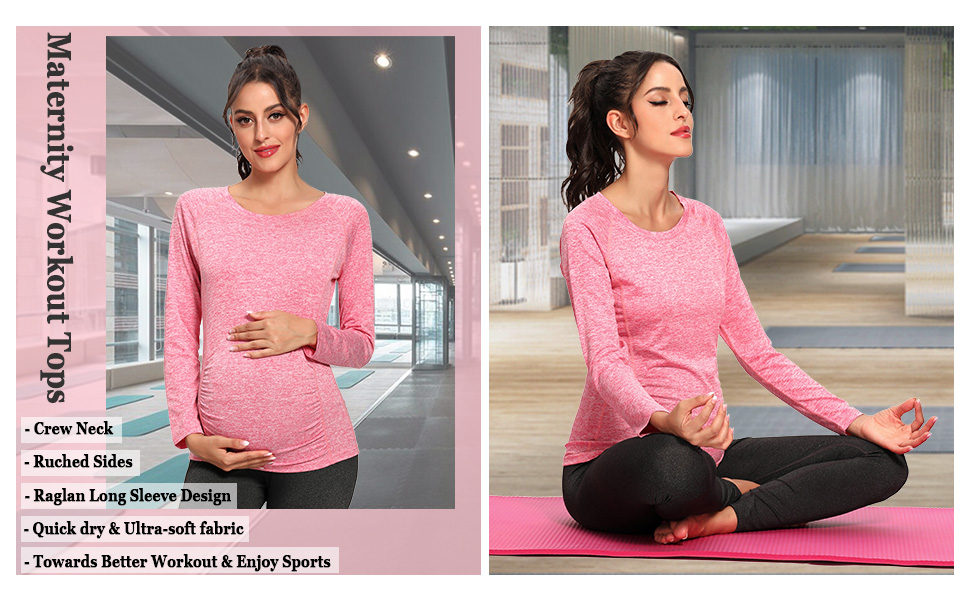maternity workout shirts for women