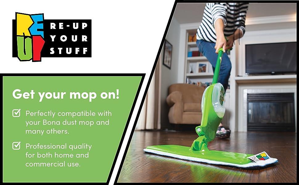 mop spray dust clean cleaner microfiber microfibre replacement pad floor Bona Rubbermaid Libman