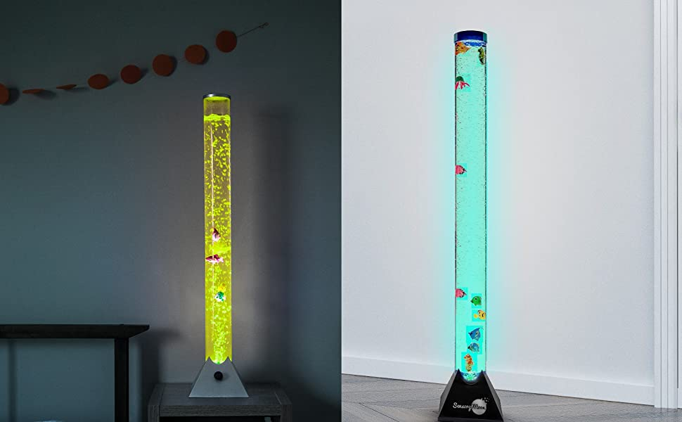 SensoryMoon 3 ft and 4 ft Bubble Tube Floor Lamps