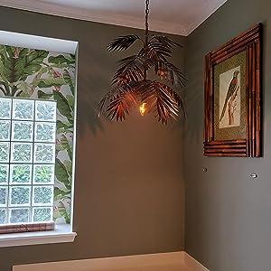 Metal Palm Leaf Pendant Lamps