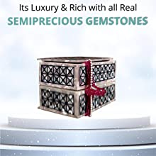 Handmade Marble Decorative Ring boxes with Inlaid Semiprecious Gemstones like Lapis, Carnelain