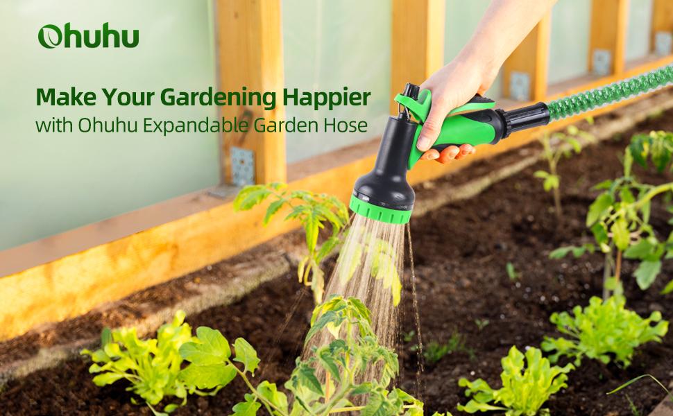 expandable garden hose water hose spray nozzle Hose Holder hanger Flexible garden Hose