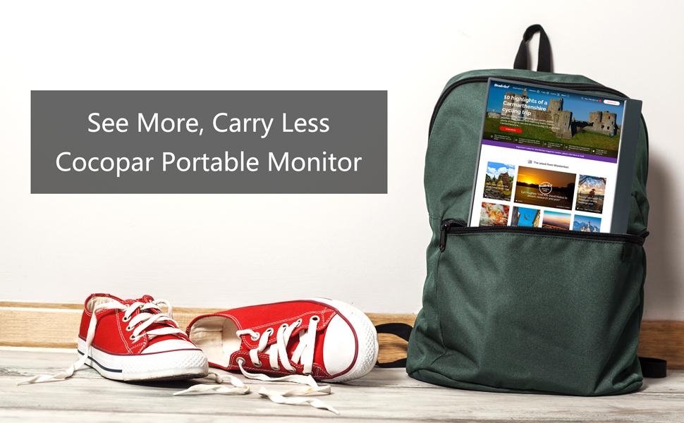 15.6 portable monitor gaming monitor usb type c monitor USB-C monitor Full HD monitor for laptop  Portable Monitor – Cocopar Portable Display with HDMI Port (Black) 018ad62c 8aa2 467f 9701 fee195d336f3