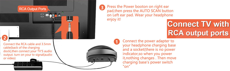 wireless headphone for tv watching