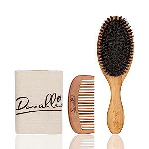 boar bristle hair brush for men and women